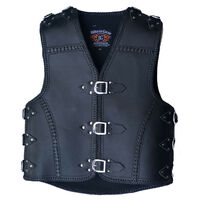 3MM HEAVY DUTY BRAIDED LEATHER CLUB VEST