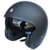 New Scorpion Bandit TSS System Open face Motorcycle Helmet Black Sizes XS - XL