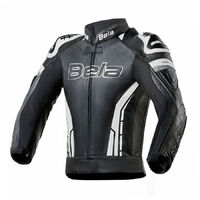 Bela Soft Leather Perforated Sports Jacket Soft Kangaroo Panels