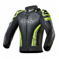 Bela Soft Hi Viz Leather Perforated Sports Jacket Soft Kangaroo Panels