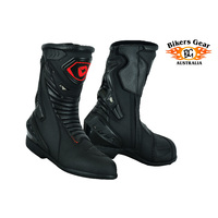 Bela Speedo Full Leather Waterproof Red Premium Sports Touring Boots