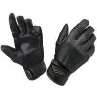 BILTWELL WORK GLOVE SUPER SOFT LEATHER COMFORTABLE RETRO CRUISER BLACK