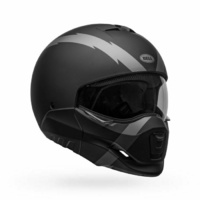 BELL BROOZER ARC CRUISER MOTORCYCLE ROAD HELMET FLIP DOWN VISOR REMOVABLE FRONT
