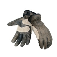 MOTORCYCLE CRUISER RIGGER DISTRESSED COW ANILINE LEATHER GLOVES