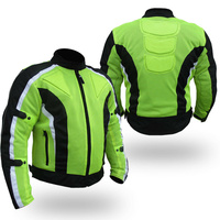 CHICANE  M'CYCLE SUMMER TEXTILE JACKET REMOVABLE CE ARMOUR FULL VENTED  HI-VIZ