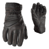 CLEARANCE RST PREMIUM LEATHER CRUZ CRUISER GLOVES WITH ARMOUR BROWN SAVE $30