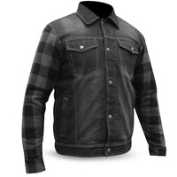 AUSTIN MADE WITH KEVLAR FULLY LINED DENIM JACKET FLANNEL W'PROOF CE ARMOUR