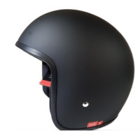 ELDORADO OPEN FACE LOWEST PROFILE LEGAL MOTORCYCLE HELMET MATT BLACK