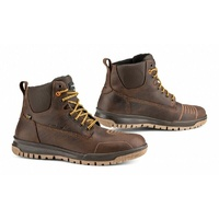 FALCO PATROL URBAN RETRO LEATHER RETRO WATERPROOF MOTORCYCLE BOOT BROWN