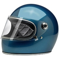 BILTWELL GRINGO S ECE PACIFIC BLUE HELMET ROAD URBAN RETRO CRUISER