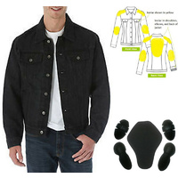 CAFE RACER MOTORCYCLE KEVLAR® LINED DENIM JACKET