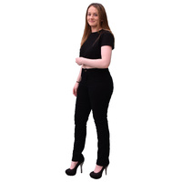 New Ladies Black Stretch Denim Kevlar® Lined Motorcycle Jeans with CE Armor