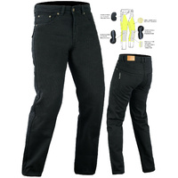 Bikers Gear New Mens Black Denim Kevlar® Lined Motorcycle Jeans CE Armour Option