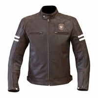 NEW MERLIN RETRO HERITAGE HIXON PREMIUM ANILINE LEATHER MOTORCYCLE JACKET BROWN