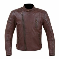 NEW MERLIN CLASSIC RETRO LICHFIELD PREMIUM LEATHER MOTORCYCLE JACKET OXBLOOD