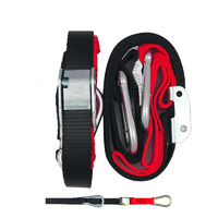 GORILLAS GRIP TIE DOWN 25MM SNAP HOOK BLACK / RED LOOP TOP QUALITY