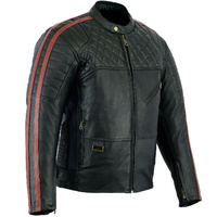 NEW RED BARON PREMIUM RETRO LEATHER MOTORCYCLE JACKET CLEARANCE SALE