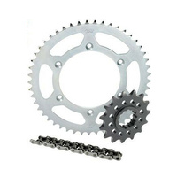 YAMAHA WR250F 4 STROKE 2001-2017 CHAIN AND SPROCKET KIT STEEL 13/52 O-RING CHAIN