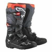 NEW ALPINESTARS TECH 7 MX MOTOCROSS OFF ROAD ADULT BOOT BLK GREY RED ENDURO SOLE