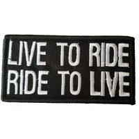 LIVE TO RIDE FABRIC MOTORCYCLE PATCH