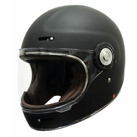 New Scorpion Vintage Full face Motorcycle Helmet Matt Black