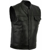 SONS OF ANARCHY STYLE VEST GENUINE LEATHER VEST